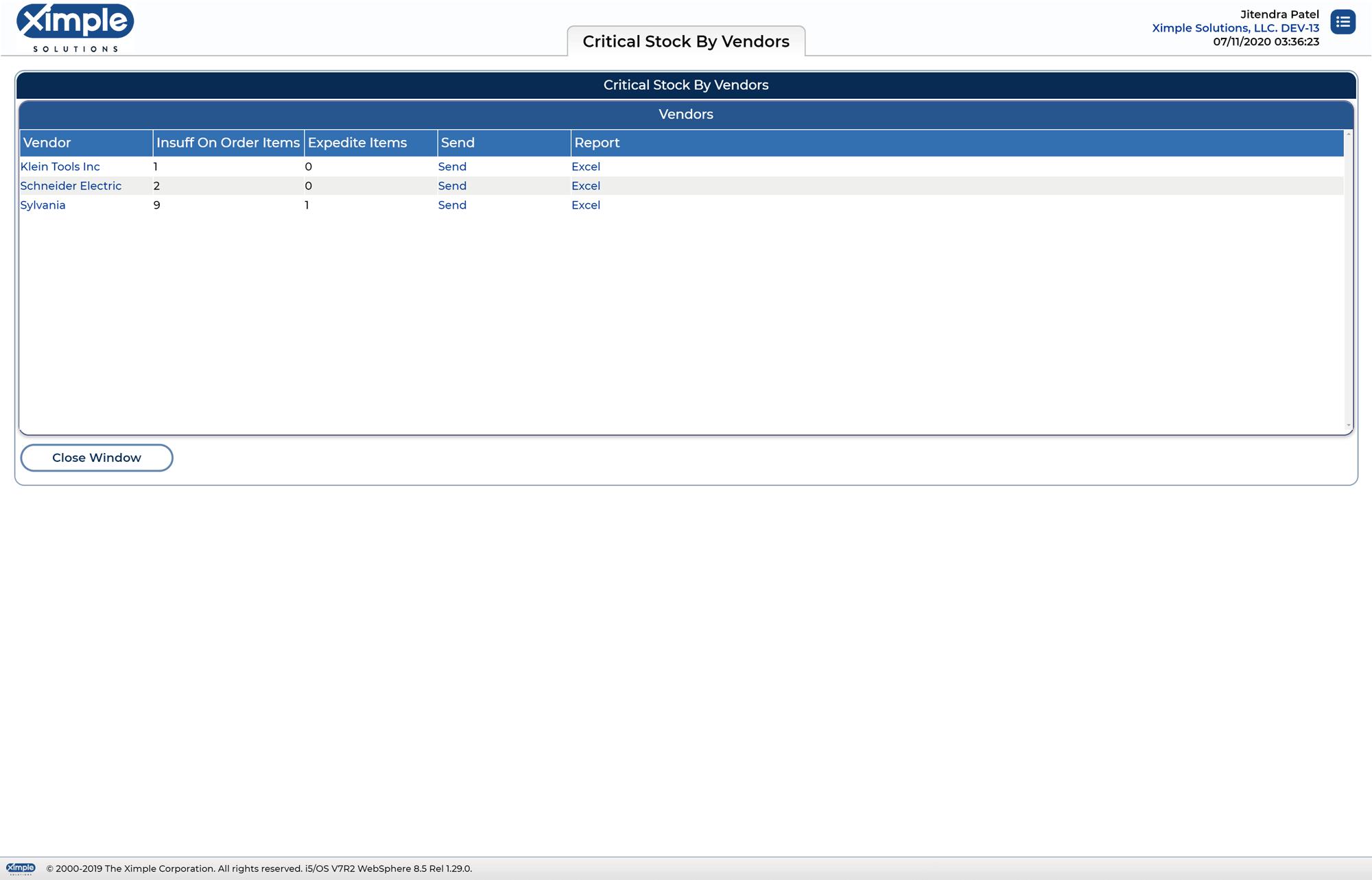 Vendor ERP System 2