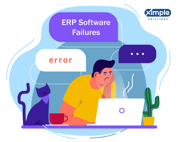 ERP Software Failure : Globally about 50% of ERP implementations are considered to be a failure. Here, the definition of failure is that they did not meet the expectations. Instead of improving the process efficiency, they slowed down the operations and impacted the revenues and bottom line.